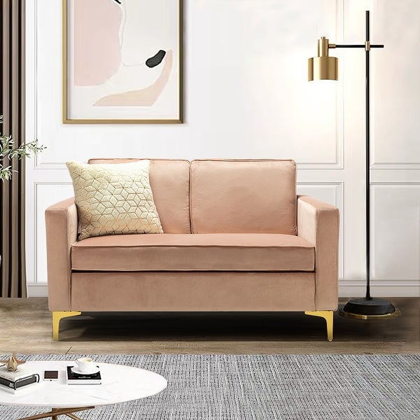 Clos Upholstered Sofa with Metal Base. Opens flyout.