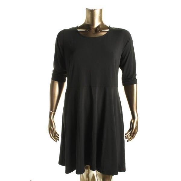 Karen Kane Womens Casual Dress Matte Jersey Key Hole