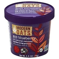 Modern Oats All Natural Oatmeal - Goji Blueberry - Case of 6 - 2.6 oz.