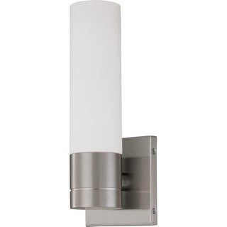 """Nuvo Lighting 60/2934 Link Single Light 4.5"""" Wide ADA Approved Bathroom Sconce with White Glass Shade"""