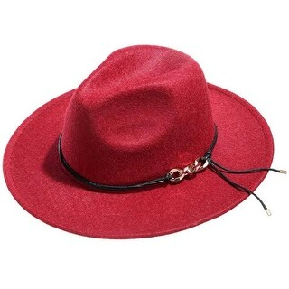 Mad Style Red Panama Flannel Hat