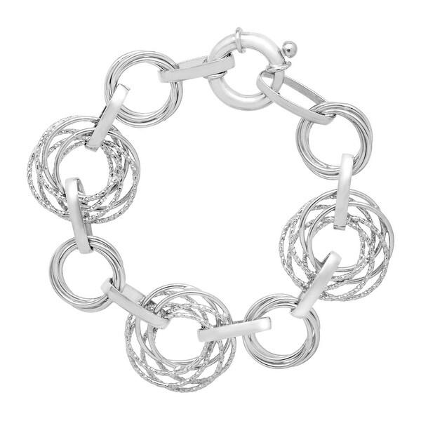Interlocking Circle Bracelet in Sterling Silver