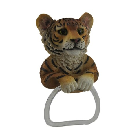 Adorable Bengal Tiger Wall Mounted Towel Holder