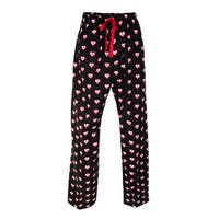 Boxercraft Women's Heart Print Flannel Pants with Pockets