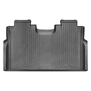 WeatherTech 446974 Black Rear FloorLiner: Ford F-150 2015 +, SuperCrew, 1st row bench