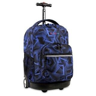 J World New York Sunrise 18 Inch Rolling Backpack, Disco
