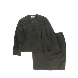 Le Suit Womens 2PC Metallic Skirt Suit