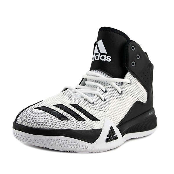 6752d9fbc1a Shop Adidas Dt Bball Mid Men Round Toe Synthetic White Basketball ...