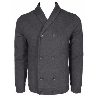 BOSS Hugo Boss Black Label $295 Slim Fit Military Cardigan Sweater Shirt L