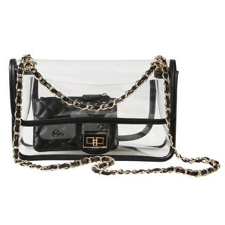 "Women's Stadium Approved Clear Handbag - Airport Security Transparent Purse - 10"" x 6"" - Medium"