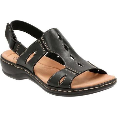 7307b4a7a31 Clarks Women s Leisa Lakelyn Cutout Slingback Black Leather