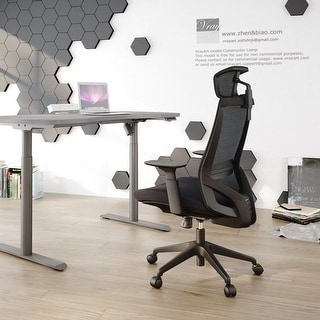 Link to Ergonomic Office Back Mesh Chair with Adjustable Armrests Similar Items in Office & Conference Room Chairs