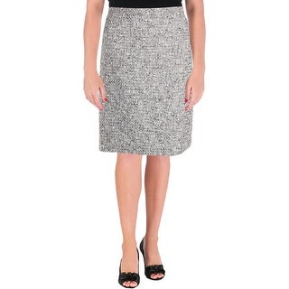 Tahari ASL Womens Petites Pencil Skirt Boucle Knee-Length - 6P