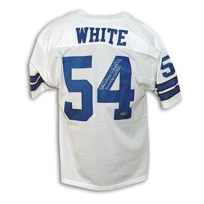 huge selection of b01f7 3f600 Autographed Randy White Dallas Cowboys White Throwback Jersey Inscribed CO  MVP SB XII
