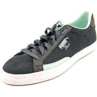 Puma Match Vulc Women Round Toe Canvas Black Sneakers
