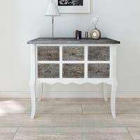 White Modern Accent Storage Cabinet Console Side Table Hall Sideboard 6-Drawer