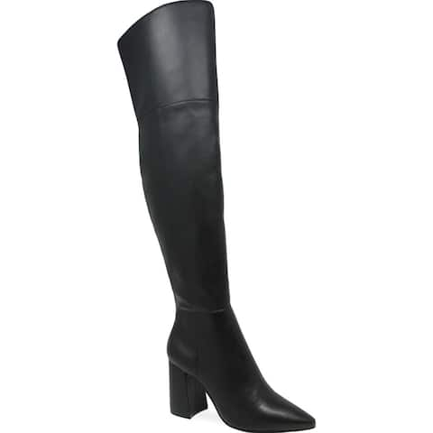 Charles by Charles David Womens Viceroy Over-The-Knee Boots Pointed Toe Tall - Black