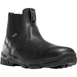 """Danner Men's Lookout Station Office 5.5"""" NMT Chelsea Boot Black Full Grain Leather/Nylon"""