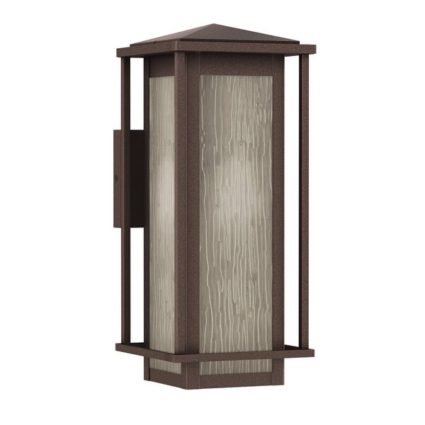 """Park Harbor PHEL1701 Beech Lane 16"""" Tall 1-Light Outdoor Wall Sconce - Brownstone - N/A"""