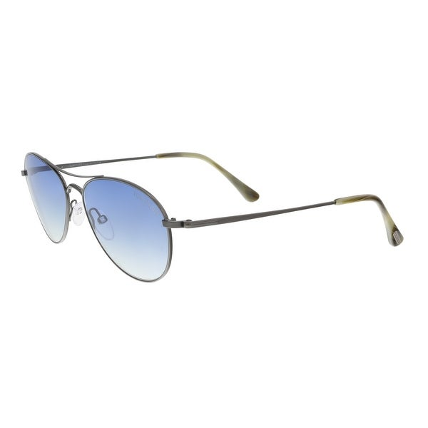 f1e2aac96639 Shop Tom Ford FT0495 S 12W OLIVER Pewter Aviator Sunglasses - 56-16 ...