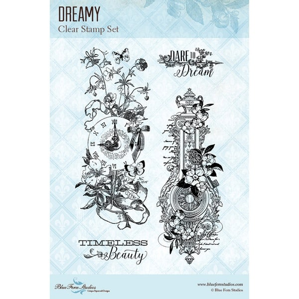 "Blue Fern Studios Clear Stamps 4""X6""-Dreamy"