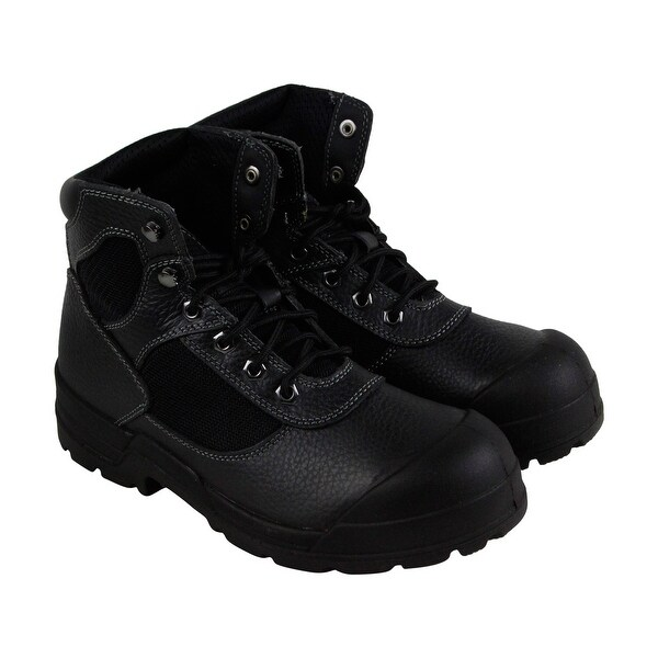 e2283e19856 Shop Condor Steel Toe Work Boot Mens Black Leather Work Boots Shoes ...