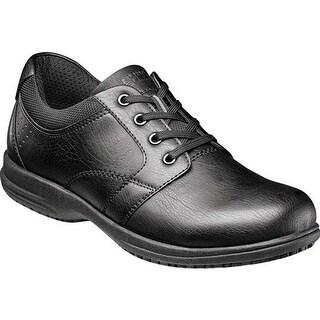 Nunn Bush Men's Shawn Plain Toe Oxford Black Synthetic