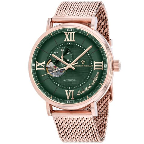 Christian Van Sant Men's Somptueuse Limited Edition Green Dial Watch - CV1148