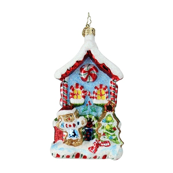 Christopher Radko Candy Cane Cottage Christmas Ornament #1019487