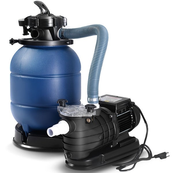 Shop Costway New Pro 2450gph 13 Sand Filter Above Ground
