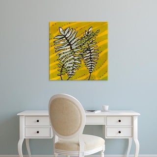 Easy Art Prints Andrea Davis's 'Gold Batik Botanical II' Premium Canvas Art