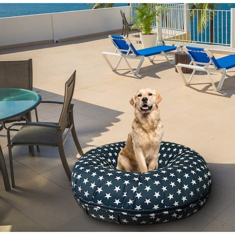 Bessie and Barnie Water Resistant Star Banner Outdoor Durable Bagel Pet / Dog Bed