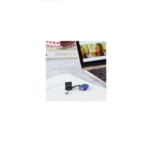99154 Verbatim 32GB Store /'n/' Go Dual USB Flash Drive for USB-C Devices Blue