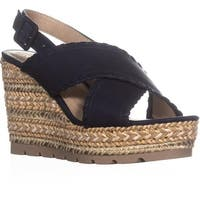 Seven Dials Alessandra Criss Cross Wedge Sandals, Navy