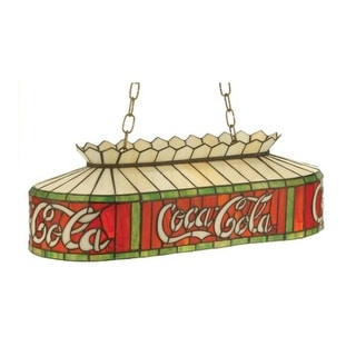 Meyda Tiffany 74069 Two Light Down Lighting Island / Billiard Fixture from the Coca-Cola Collection