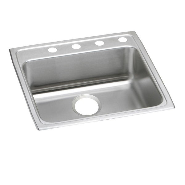 "Elkay LRAD222265 Lustertone Stainless Steel 22"" x 22"" Single Basin Top Mount Kitchen Sink with 6-1/2"" Depth"