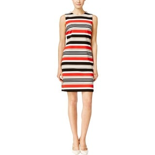 Calvin Klein Womens Wear to Work Dress Striped Sleeveless