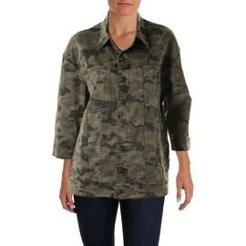 Hudson Womens 3/4 Sleeves Camouflage Jacket - M