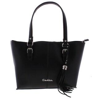 Carlos Falchi Womens Luana Shopper Handbag Faux Leather Tote - Medium