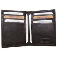 Improving Lifestyles Leather Mens Wallet Bifold Black Credit Card Holder FREE Organza Gift Bag SUN028BK