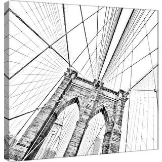 """PTM Images 9-101258  PTM Canvas Collection 12"""" x 12"""" - """"Brooklyn Bridge 1"""" Giclee Cityscapes Art Print on Canvas"""