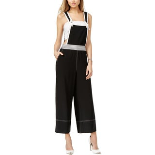 Guess Womens Kendall Overalls Crepe Colorblock