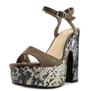Jessica Simpson Whirl   Open Toe Leather  Platform Heel