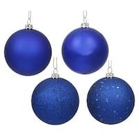 Vickerman  Cobalt Blue 4 Finish Ball Ornament, 6 in. - Box of 4