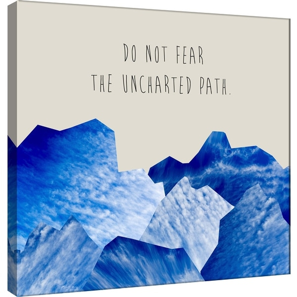 """PTM Images 9-100500 PTM Canvas Collection 12"""" x 12"""" - """"Do Not Fear"""" Giclee Mountains Art Print on Canvas"""