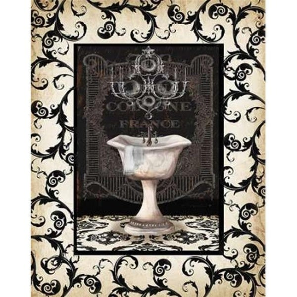 Shop Midnight Bath with Border II Poster Print by Tre Sorelle - Free on