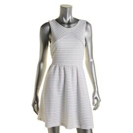 Aqua Womens Sleeveless Mesh Party Dress - L