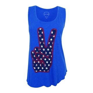Lucky Brand Women's Trendy Plus Size Peace Graphic Tank Top (Turkish Sea, 1X) - 1x
