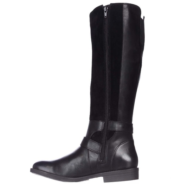 Lucky Brand Womens ZATCHI Leather Almond Toe Mid-Calf Fashion Boots