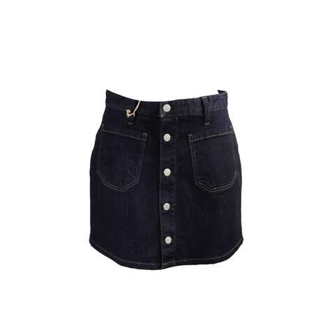 Denim Supply Dark Blue Button-Front Denim Skirt 27